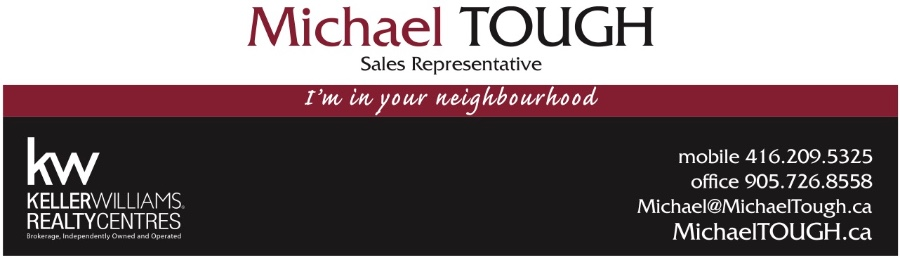 Michael Tough Sales Representative Keller Williams Realty Centre, Brokerage